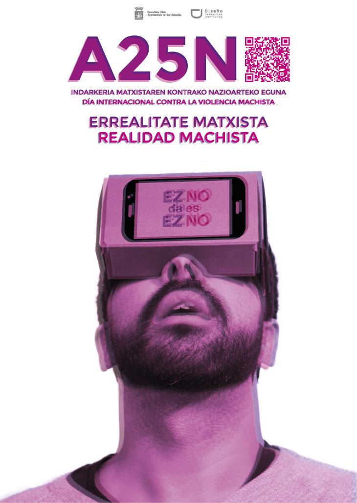 Cartel 25N Realidad Machista - Errealitate Mahista