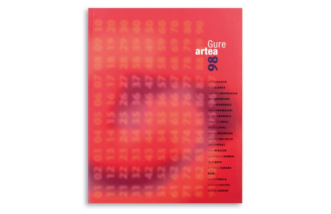 Catálogo de exhibición de Gure Artea diseñado por Juan Luis Blanco
