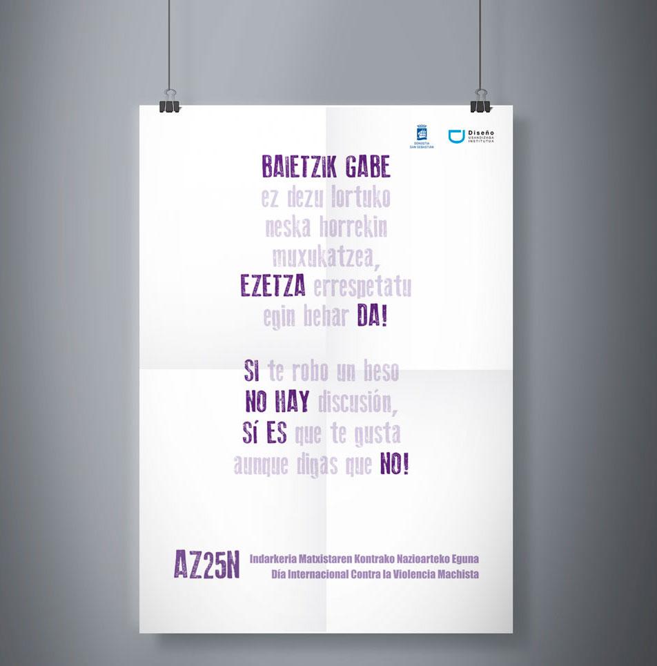 Propuesta de diseño para el 25N de la estudiante Maitane Aranburu