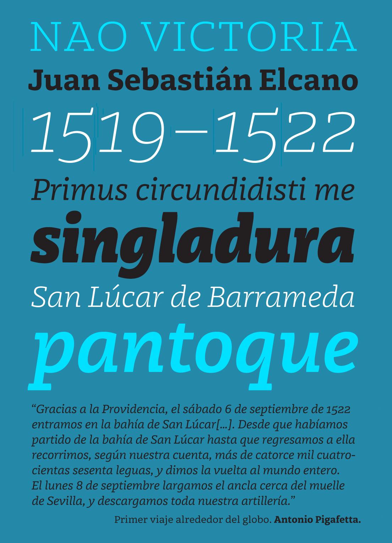 Muestra de la Tipografía Karela - Juan Luis Blanco
