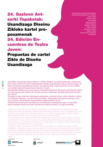 Gazteen-24. Antzerki Topaketa Donostia Lugaritz Cartel