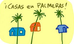 Dibujo de Pernan Goñi con casas en Palmeras