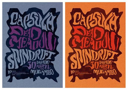 Ilustración y diseño de Marta Ennes: CAPSULA, DEADMEADOW, SPINDRIFT