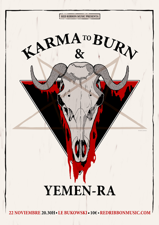 Ilustración y diseño de Marta Ennes: KARMA TO BURN