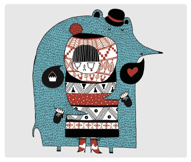 Amaia Arrazola Ilustradora. Noventaynueveporciento-Vinilos-Decorativos
