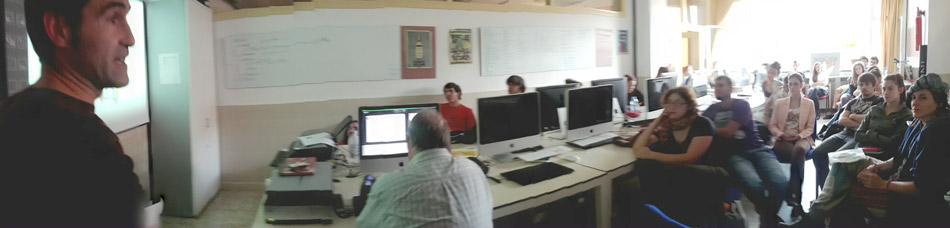 Rafael Mendia de Zerbikas en Usandizaga Diseño: Aprendizaje Servicio