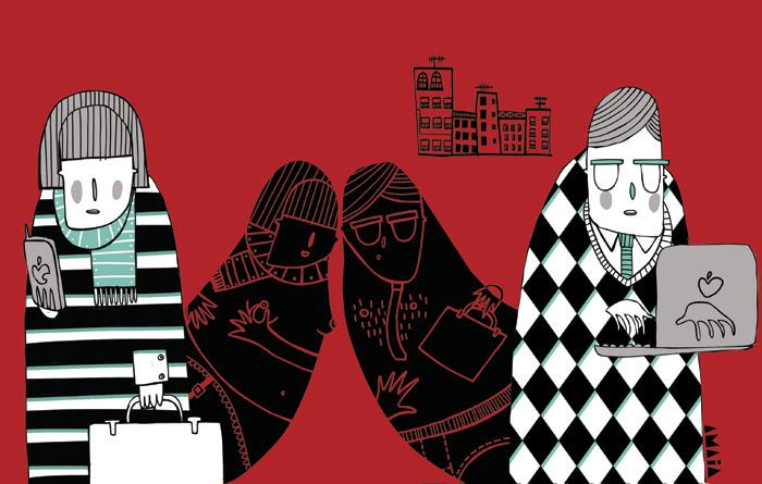 Amaia Arrazola ilustración: Periódico Diagonal-amor por facebook
