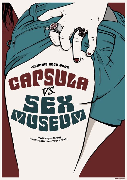 Ilustración y diseño de Marta Ennes: CAPSULA VS SEX MUSEUM