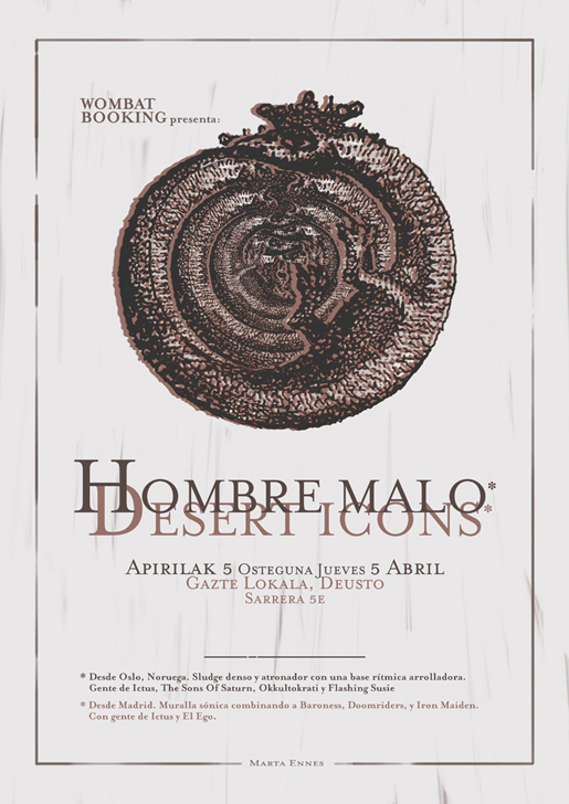 Ilustración y diseño de Marta Ennes: HOMBREMALO