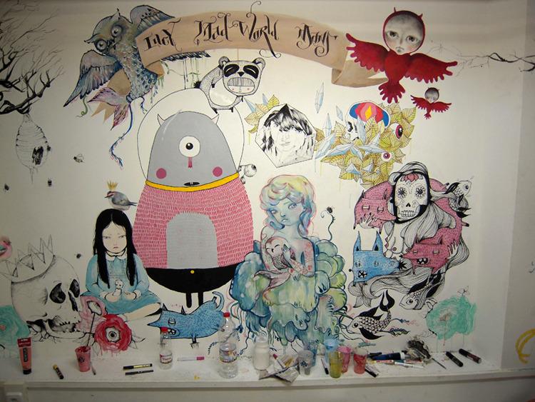 Amaia Arrazola ilustración: mural