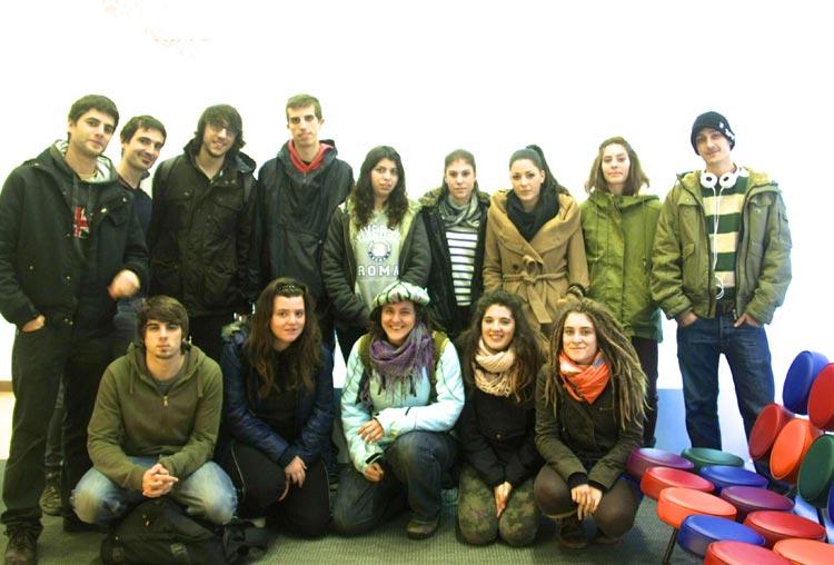 arista foto grupo del primer curso de Usandizaga Diseño