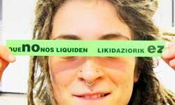 que no nos liquiden - likidaziorik ez adhesivo