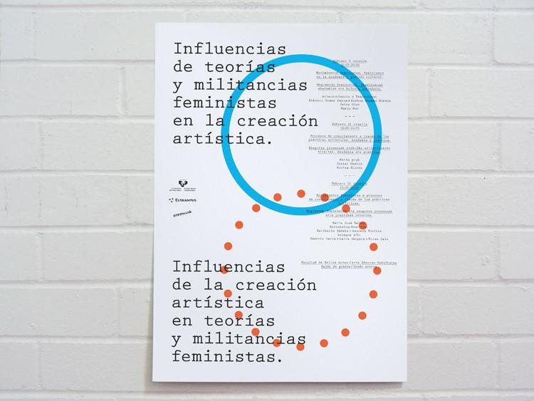 Joaquín Gañez: Cartel Feministas