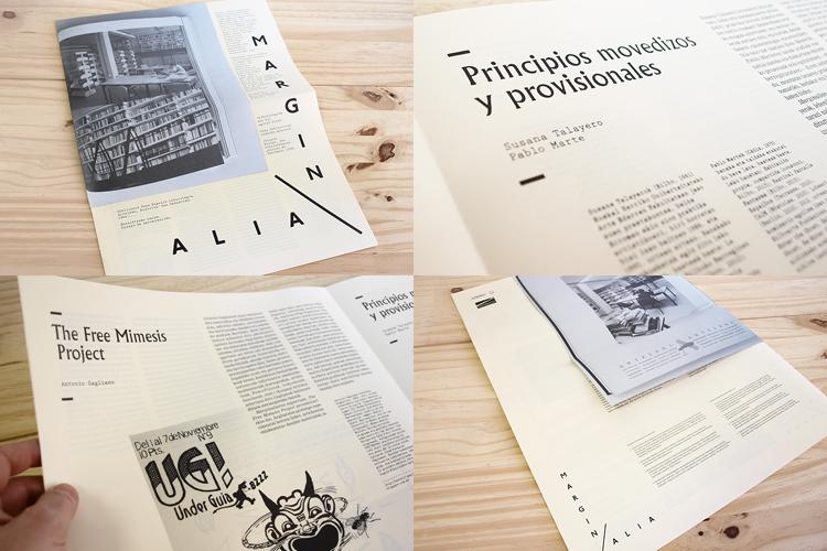 Joaquín Gañez: Diseño publicación Marginalia