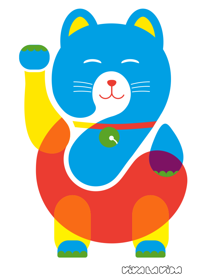 viva la vida: gato colorido