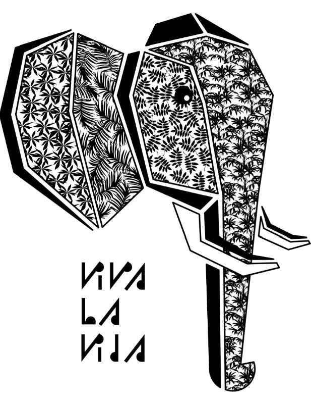 diseño e ilustración viva la vida:elefante de dibujos