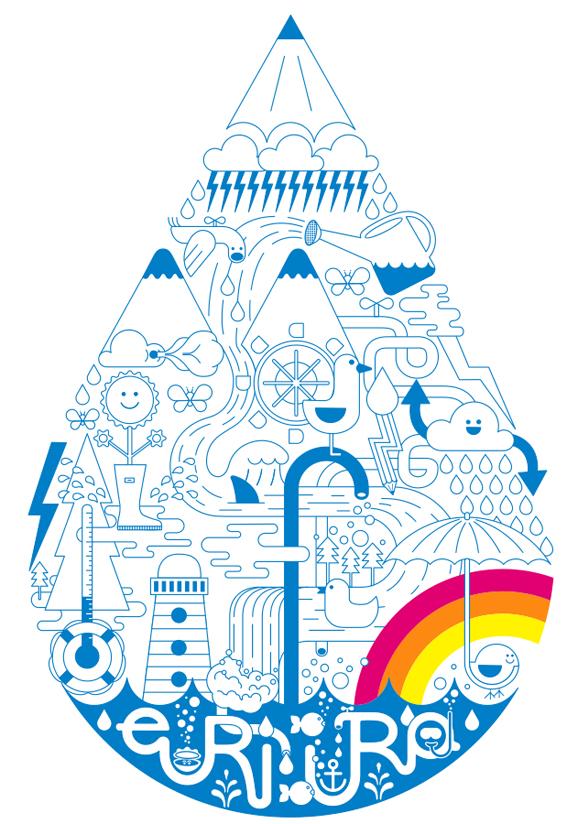 diseño e ilustración viva la vida:gota de dibujos