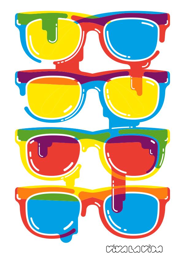 diseño e ilustración viva la vida: gafas de sol