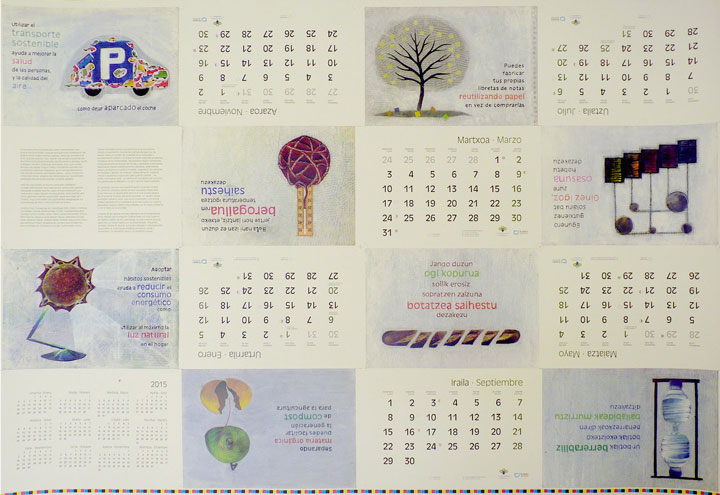 Calendario Kristina Enea Diseño Usandizaga