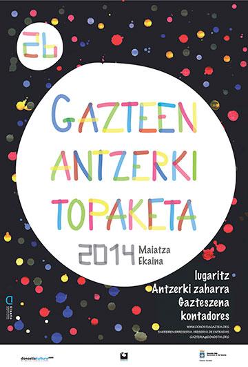 26 Gazteen Antzerki Topaketak Diseño Cartel Yurema Martin