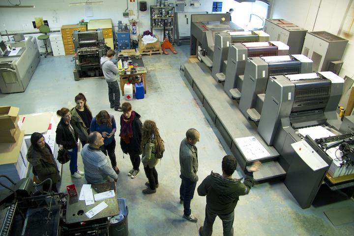 Visita a Lankorpe: impresión offset en la planta de las máquinas de impresión