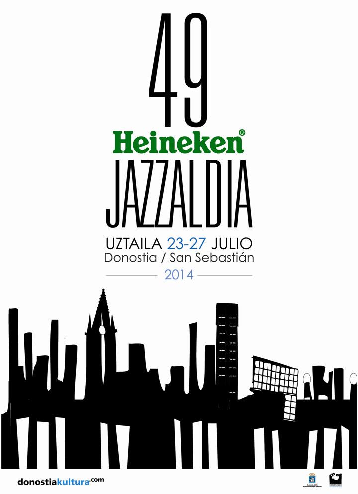 Doonostiako 49 Jazzaldia Cartel diseñado por Asier Nazabal y Carolina Romero