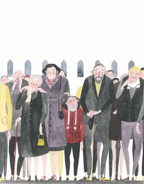 Maite Gurrutxaga ilustratzailea jendearen marrazkia