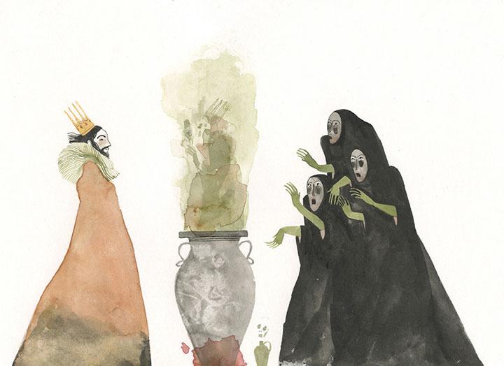 Maite Gurrutxaga ilustratzailea sorginak eta erregea