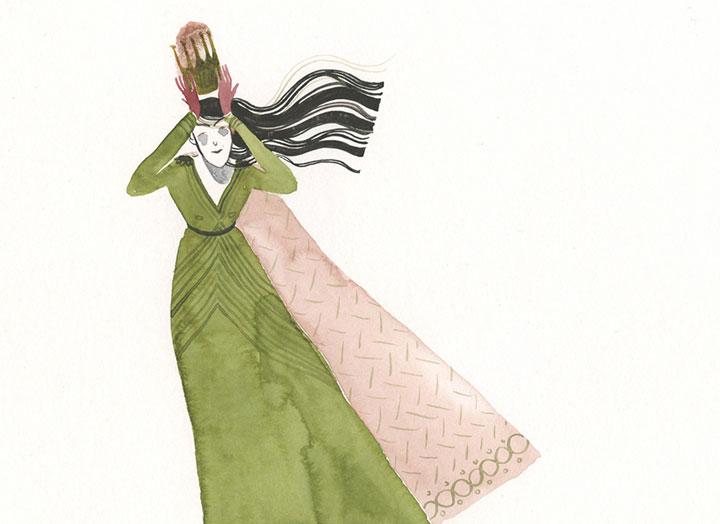 Maite Gurrutxaga ilustratzailea erregina