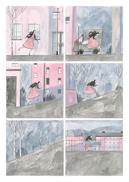 Maite Gurrutxaga ilustratzailea liburuaren eszenak