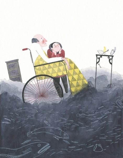 Maite Gurrutxaga ilustratzailea aitna eta biloba