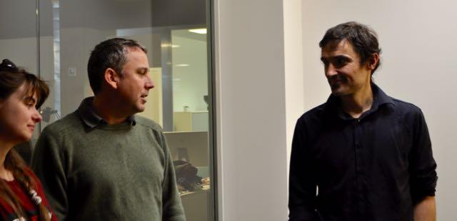 Con Alberto Villaroig en nuestraq visita a Overalia: Diseño web y SEO en donostia