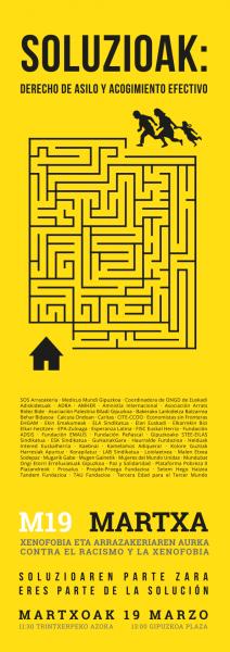 Soluzioak Parte exterior del folleto cartel
