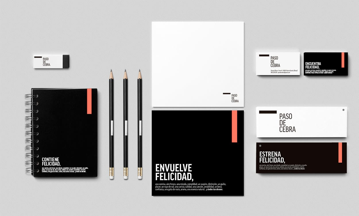 ideolab paso de cebra contiene felicidad diseño de Identidad Visual y concepto corporativo