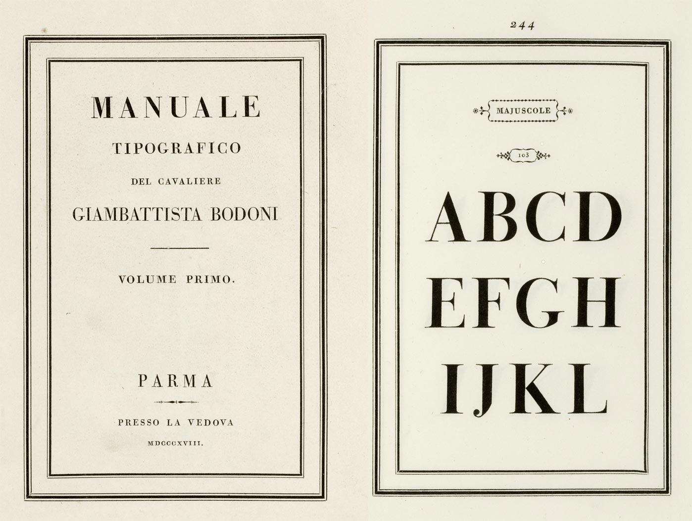 Marguerita Dall Aglio, Manuale Tipográfico Bodoni