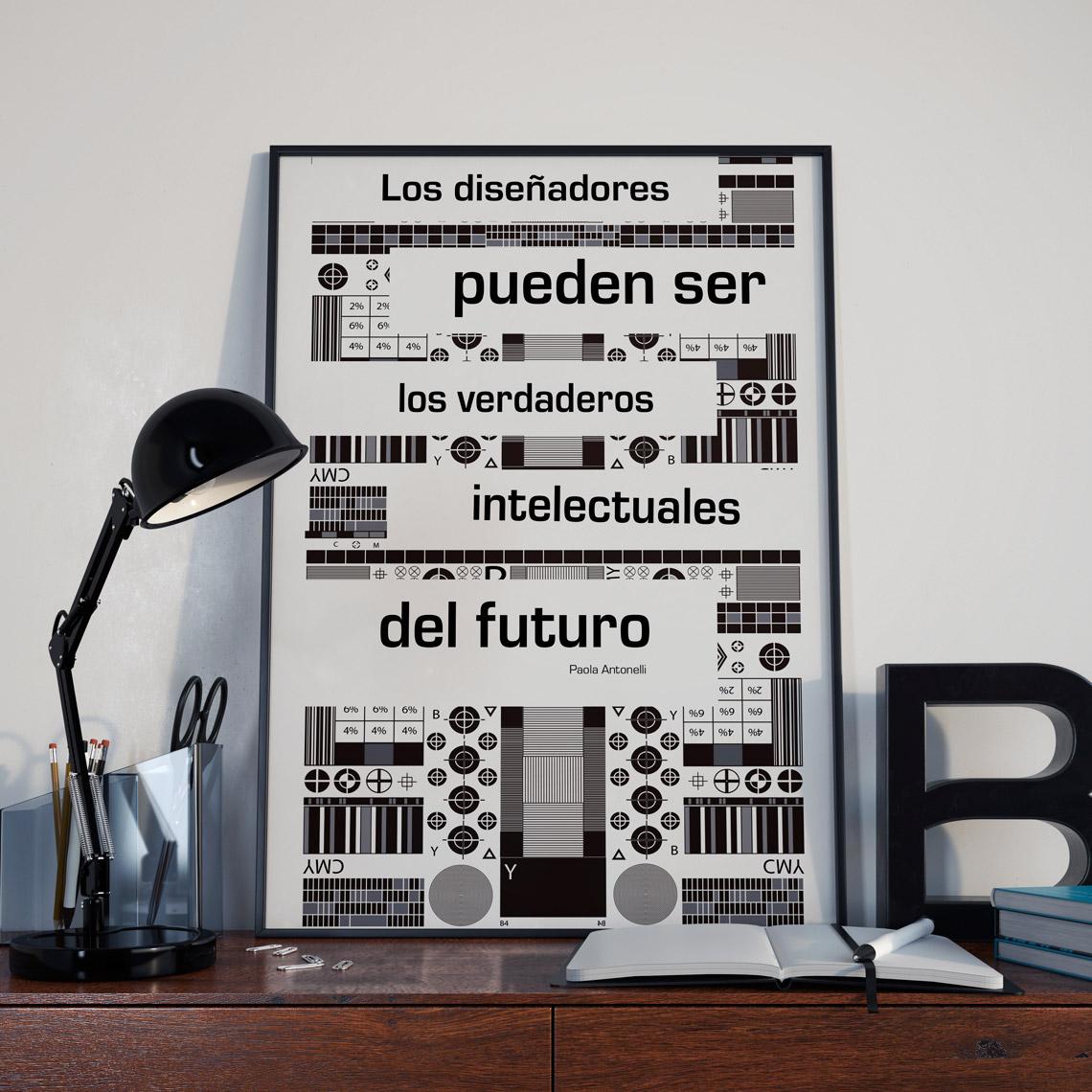 Cartel Diseñadora PAOLA ANTONELLI diseño Ane-Otxotorena Ciclo Formativo de Grado Superior en Gráfica Publicitaria