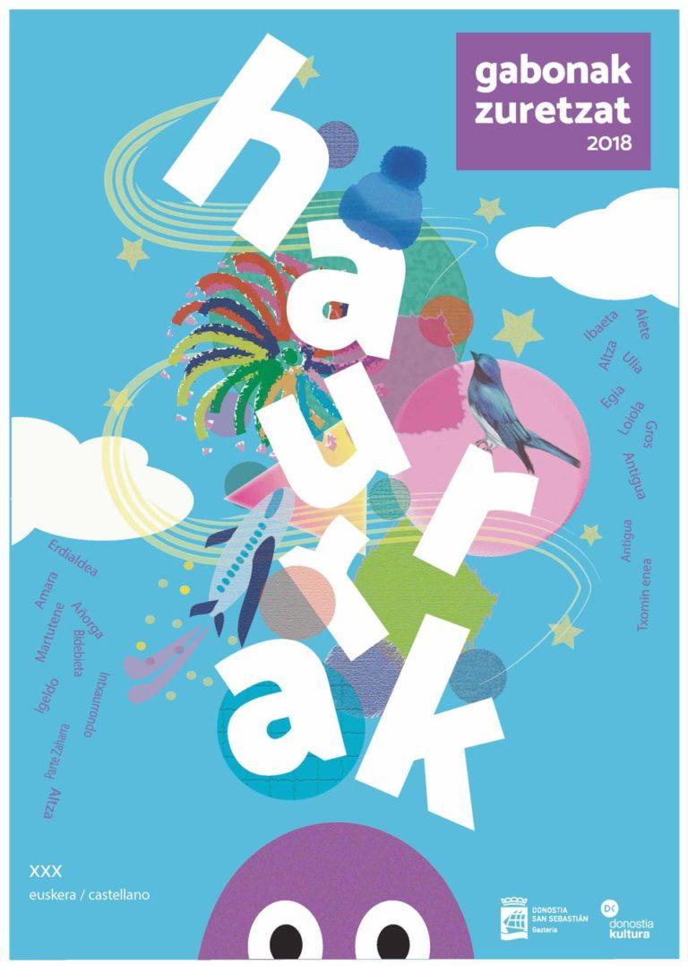 Diseño de Cartel Gabonak Zuretzat Haurrak 2018 Maitane Aguado