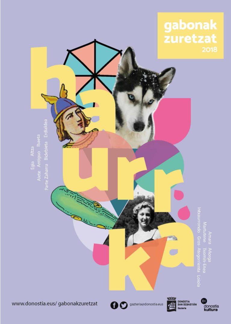 Diseño de Cartel Gabonak Zuretzat Haurrak 2018 Nicky Sahonero