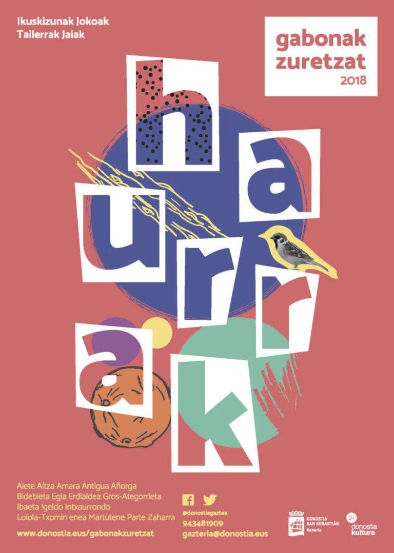 Diseño de Cartel Gabonak Zuretzat Haurrak 2018 Uxue lopez