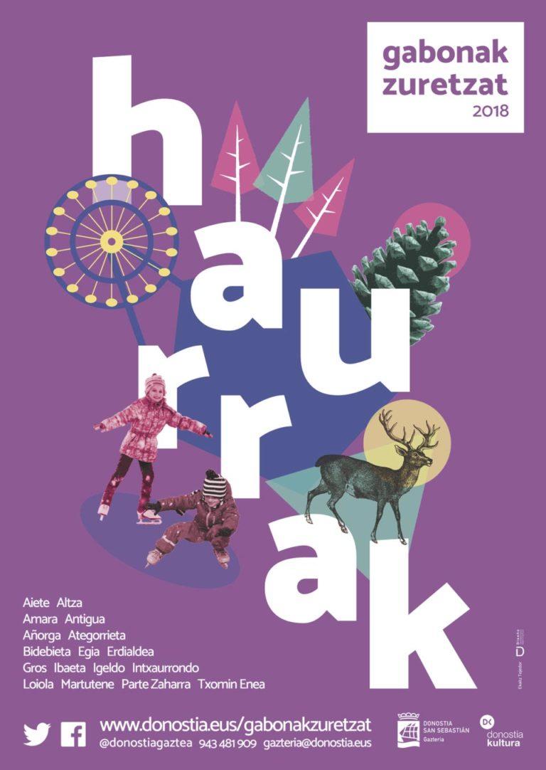 Diseño de Cartel Gabonak Zuretzat Haurrak 2018 Ekaitz Tejedor