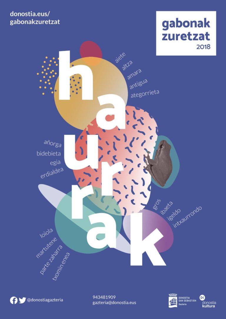Diseño de Cartel Gabonak Zuretzat Haurrak 2018 Iñaki Urruzola