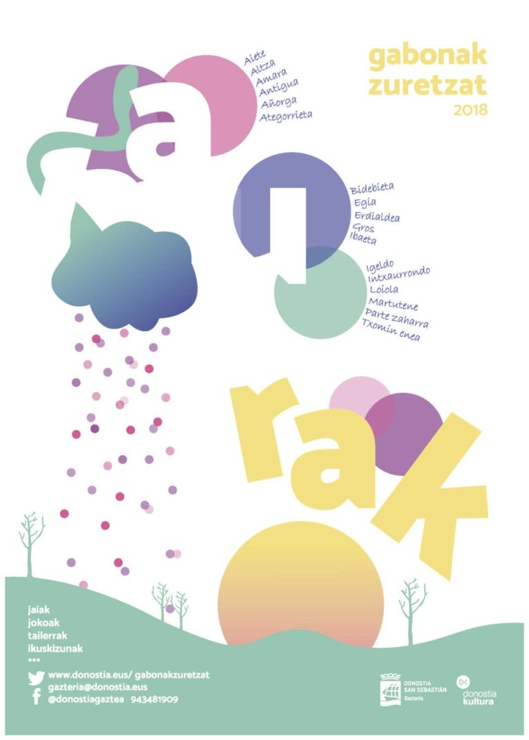 Diseño de Cartel Gabonak Zuretzat Haurrak 2018 Vanesa Varas