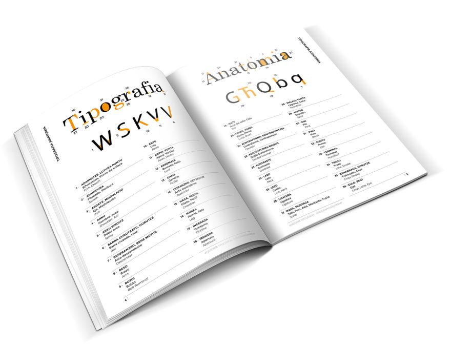 Euskarazko Diseinu Grafiko Fanzine Glosarioa tipografia Usandizaga Diseño
