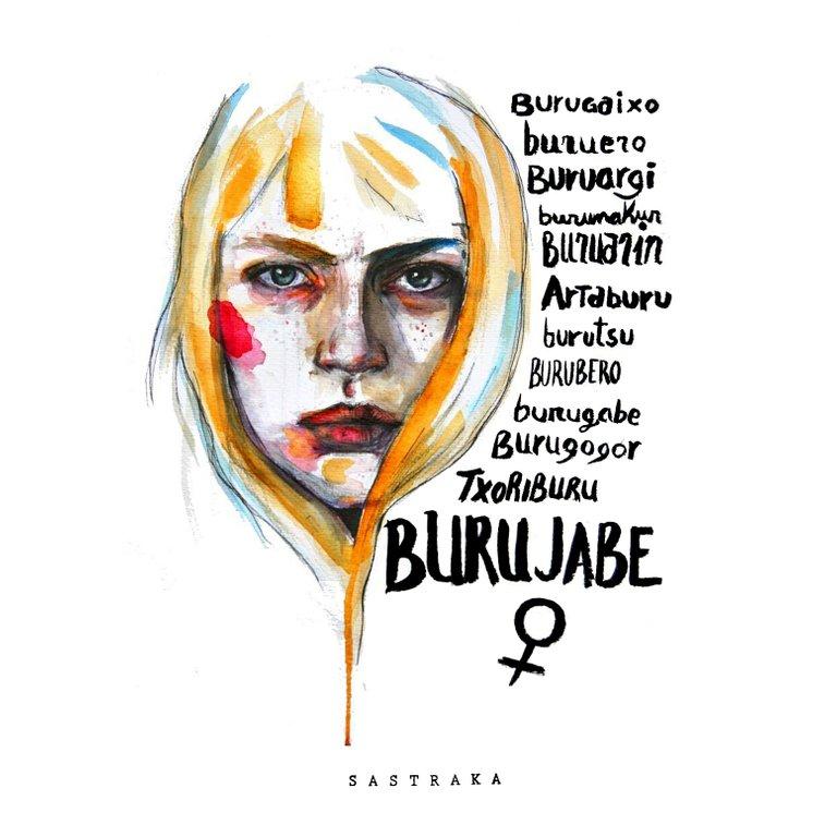 BURUJABE, akuarela ilustrazioa, sastraka