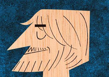 Ilustración caricatura Autorretrato-Mikel-Casal