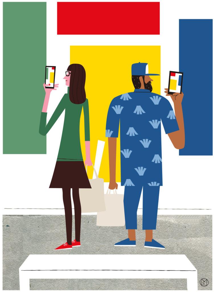 Ilustración Museos - Mikel Casal