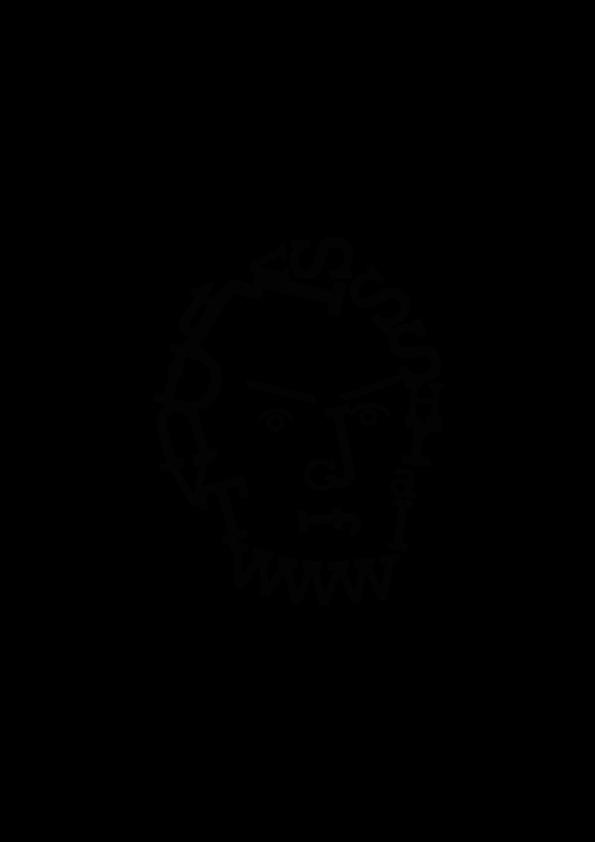 Karagrama de Abraham Lincoln creado con la tipografía Rockwell diseñado por Ekaitz Tejedor