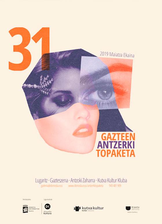 Cartel oficial para la 31 edición Gazte Antzerki Topaketak de Donostia