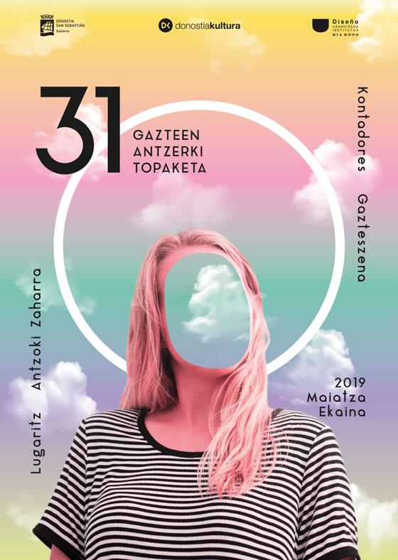 Propuesta de Cartel de MAria Gayo para la 31 edición Gazte Antzerki Topaketak de Donostia