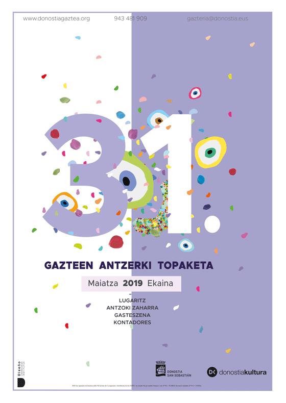 Propuesta de Cartel de Maialen para la 31 edición Gazte Antzerki Topaketak de Donostia